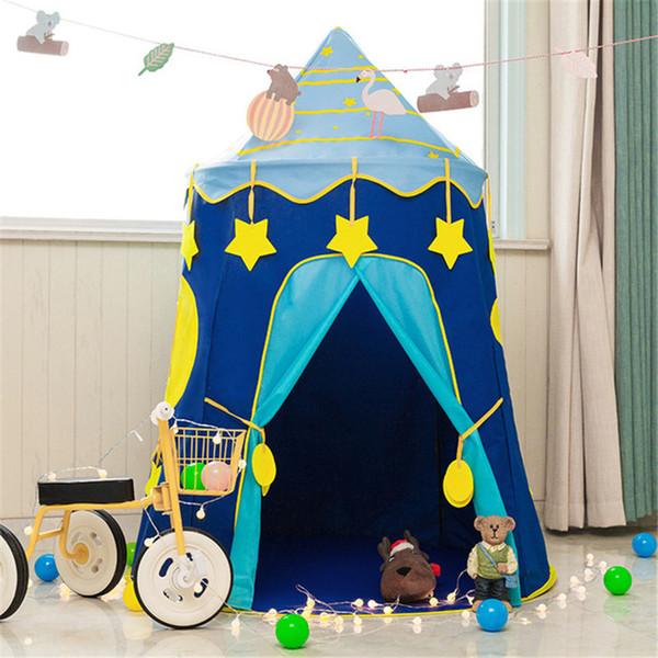 Çocuklar Çadır Evi Taşınabilir Yıldız Oyun Evi Mevcut Kız Erkek Açık Çocuk Çadır Oyuncaklar Oyna Doğum Günü Noel Hediyesi