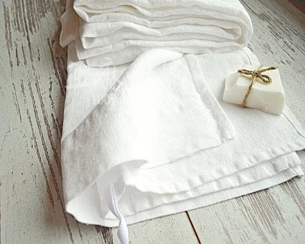 100% real white linen napkins wedding table napkin natural pure pink stain table cloth cover cloths dinner serviette antique