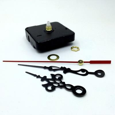 Mode diy quarzuhr bewegungsmechanismus lange spindel rote hände reparatur diy kit set hause schwarz uhr zubehör dhl versandkostenfrei