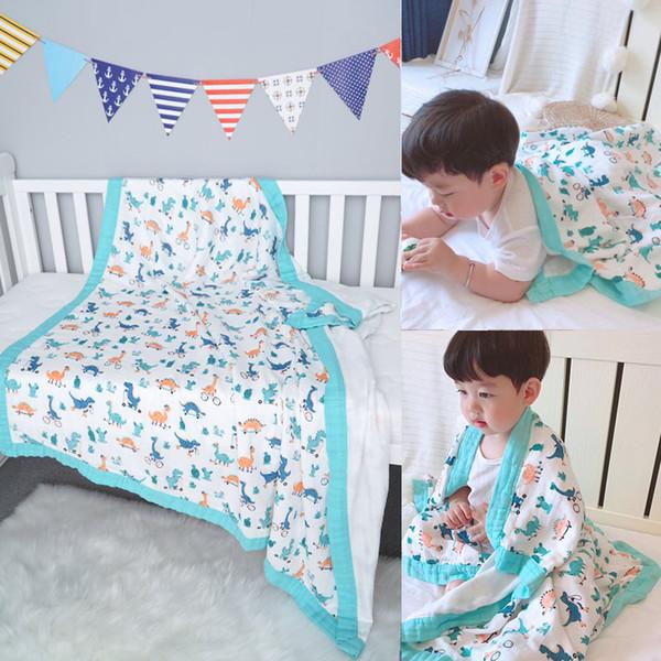 Use Bed Sheet Bath Muslin Blankets Infant Wrap Baby Swaddles Newborn Gauze