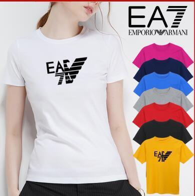 2019 camisetas de manga corta impresas, moda de verano, camisetas holgadas de mujer con cuello redondo y tops cómodos.