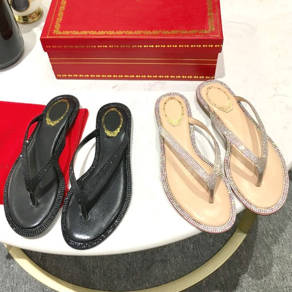 2019 new arrival ladies sexy flip flops slipper shoes for women atoll thong with diamond high quality !