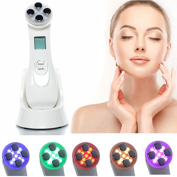 Pele Facial EMS Mesoporação RF Radiofreqüência Facial LEVOU Dispositivo de Cuidados Da Pele Photon Face Lift Apertar Máquina de Beleza RRA1426