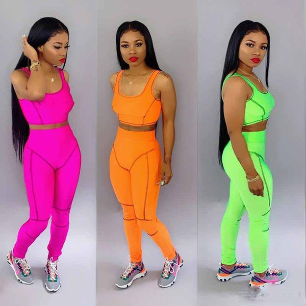 hotBrand Designer women jogger suit Tank Top Leggings 2 piece set tracksuit Sprots Bra Pant sportswear outfits sweatsuit summer clothes 2XL