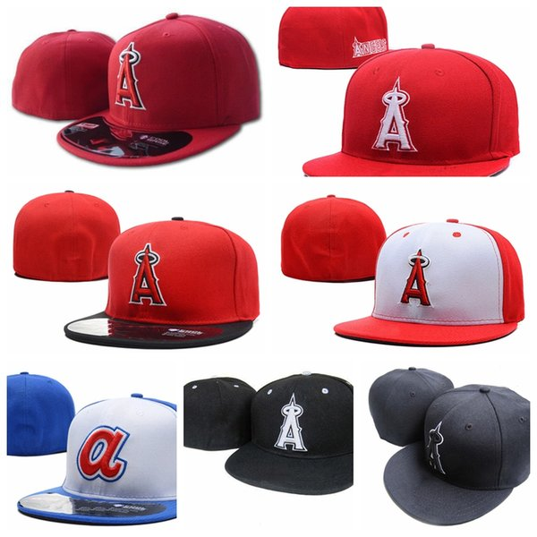 2019 New Summer Angels A letter Baseball caps gorras bones men women Casual Outdoor Sport Fitted Hats