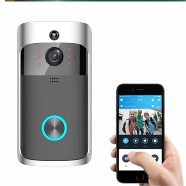 1 pc Wifi Sicurezza video Campanello Telecamera WI-FI Citofono Campanello Videochiamata Appartamenti IR Allarme Telecamera telecomando senza fili a distanza visibile