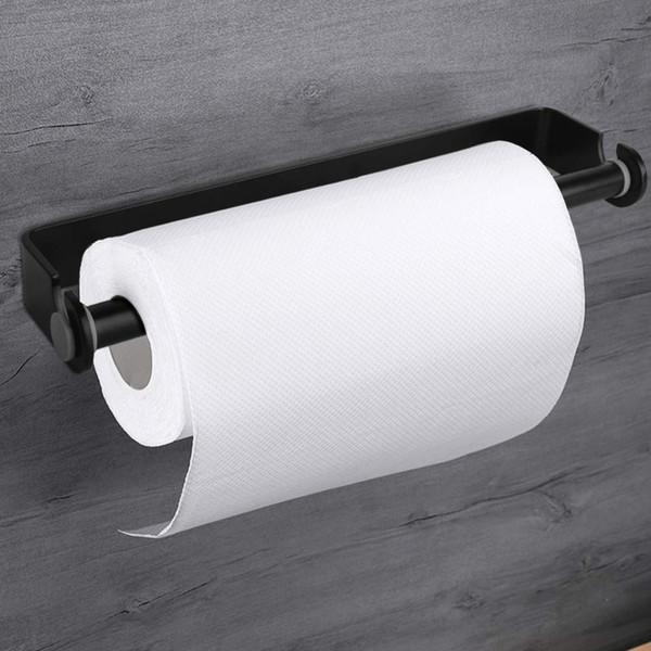 Dispensador autoadhesivo del tenedor de la toalla del papel del soporte de la pared, soporte del tenedor de la toalla del tejido de la pared de la cocina debajo del gabinete T190708