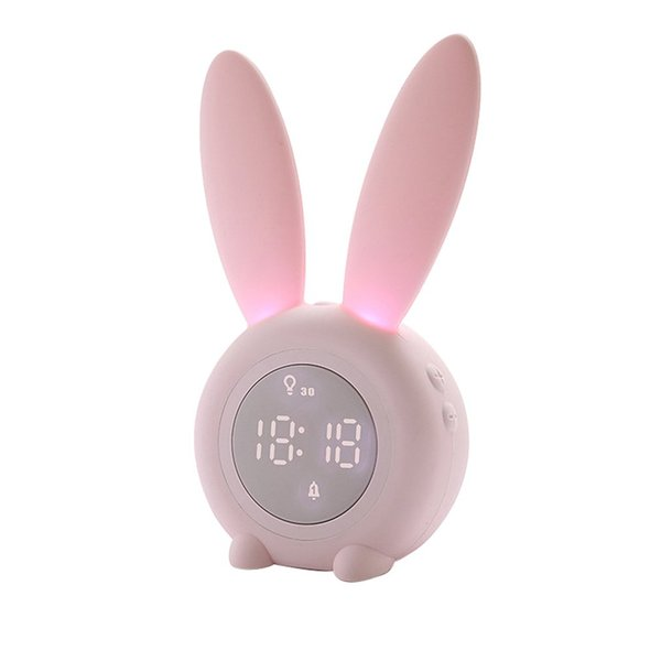 Portable Cute Digital Alarm Clock With Led Sound Night Light Function Table Wall Clocks For Home Decoration