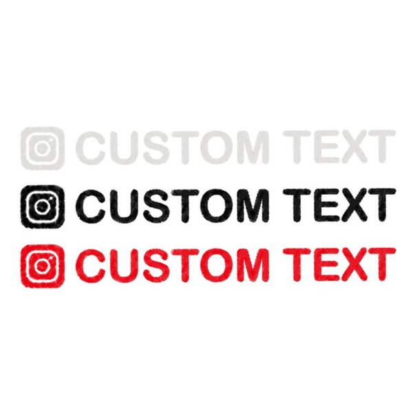 20*2CM Personalized Custom Instagram Username Waterproof Car And Motorcycle Decals Bumper Sticker qiang