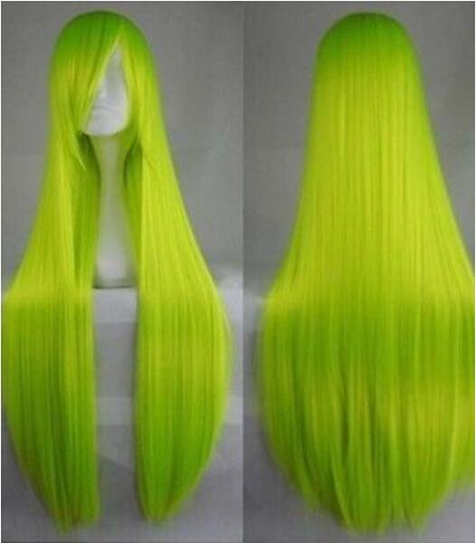 100cm / 34 '' longue perruque de cheveux résistante à la chaleur de perruques de mode Cosplay droites longues