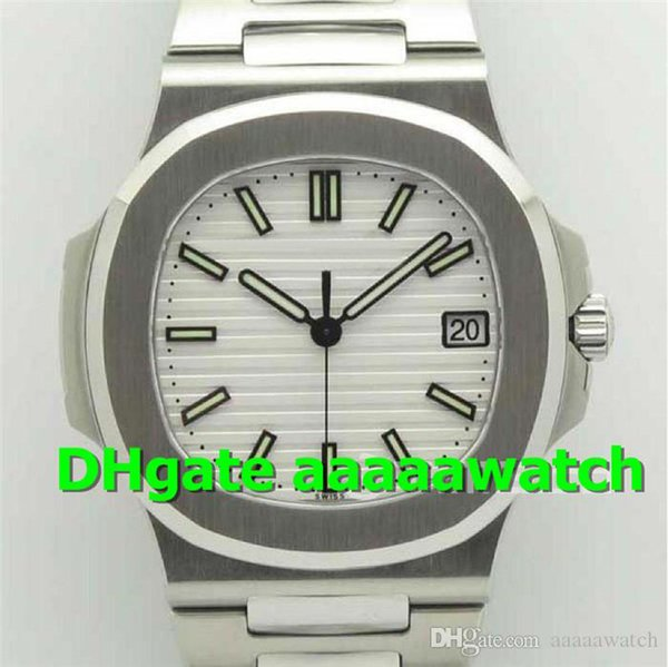 MKS Hot Sale 5711/1A-011 mens designer watches Swiss 324sc Automatic Sapphire Crystal White stripe Dial Stainless Steel Luminous Mens Watch