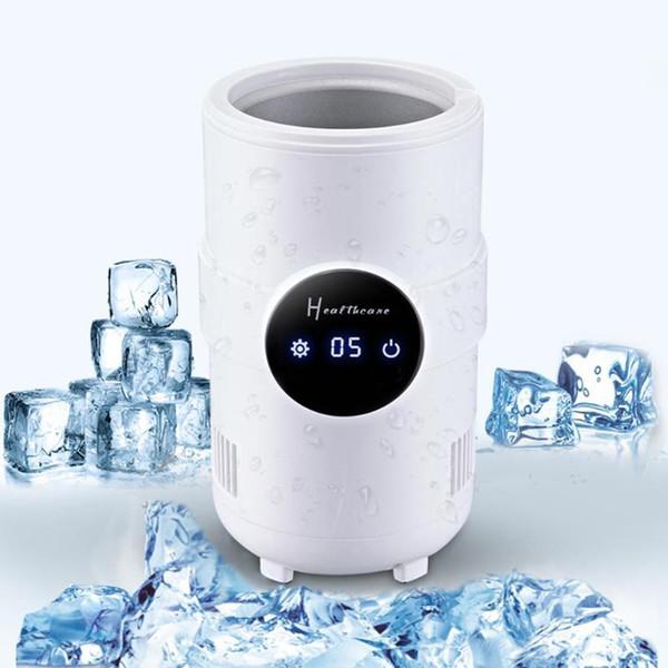 VODOOL 500 ml 12 V Coche eléctrico Refrigerador de viaje Bebida de enfriamiento instantáneo Calefacción Tazas Pantalla LED 5-55C Refrigerador de escritorio ajustable