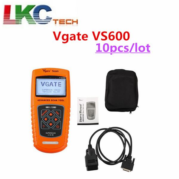 10pcs/lot Vgate VS600 Scaner Car Escaner Automotriz Universal VA-G OBD2 EOBD Scanner Automotive Auto Diagnostic Tool