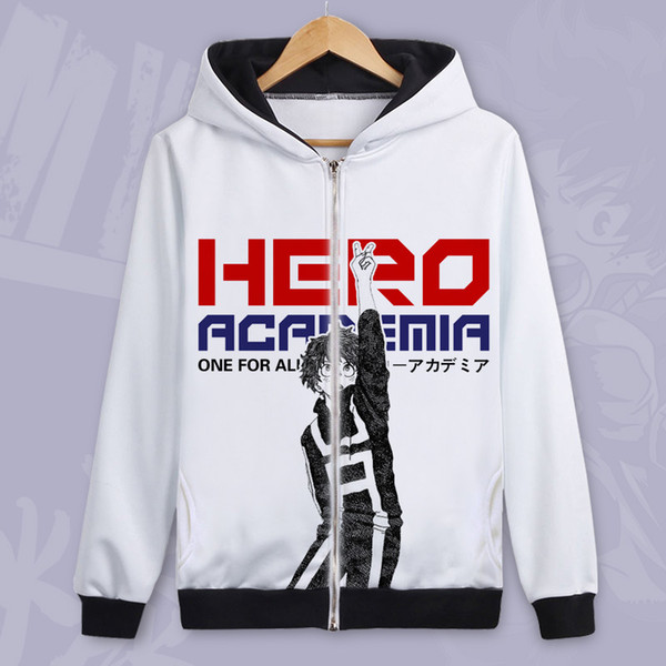 my hero academia zipper hoodie men women anime boku no hero academia cosplay jacket winter fleece coat - from $32.16