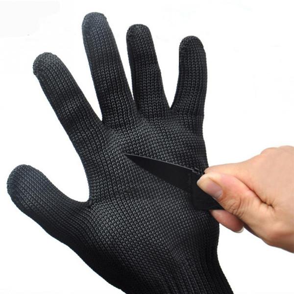Guanti di protezione in filo di acciaio inossidabile Guanti di sicurezza in metallo tagliati Mesh Butcher Anti-taglio traspirante 1 paio di guanti