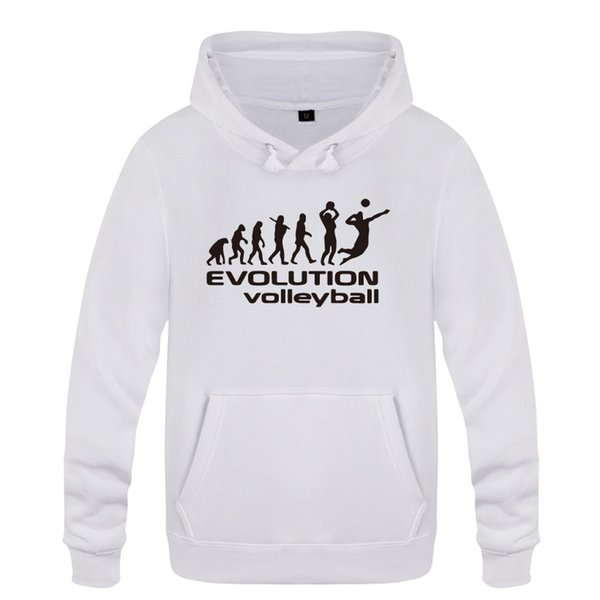 Voleybol Evrimi Komik Yaratıcı Hediye Tişörtü Erkekler 2018 Erkek Kapşonlu Polar Kazak Hoodies