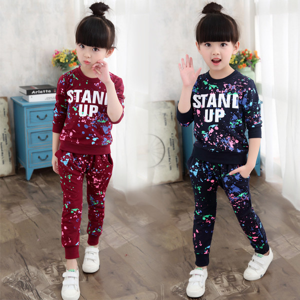 Children's Sports Suit Pure Cotton Fabric Unisex Long Sleeved Clothes trousers Two-piece Suitable for Spring and Autumn
