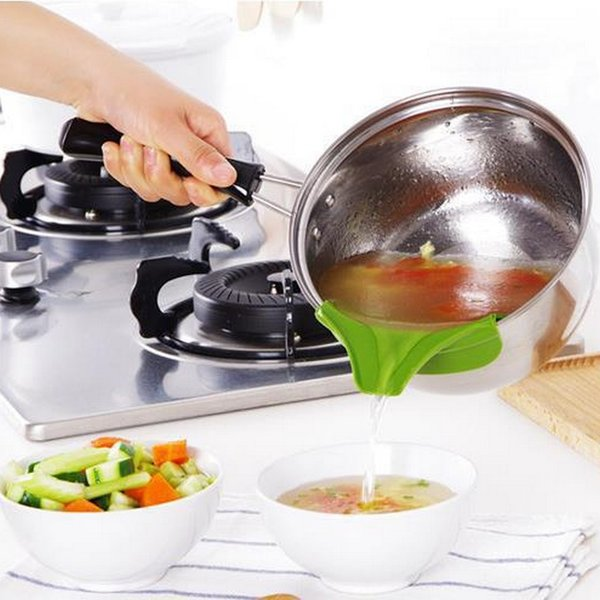 Spill Proof Cookware Round Edge Guiedvane Soup Fluid Director Kitchen  Dining Gadgets Silicone Strainer Pot EPacket Gourmet Kitchen Gadgets Great  ...