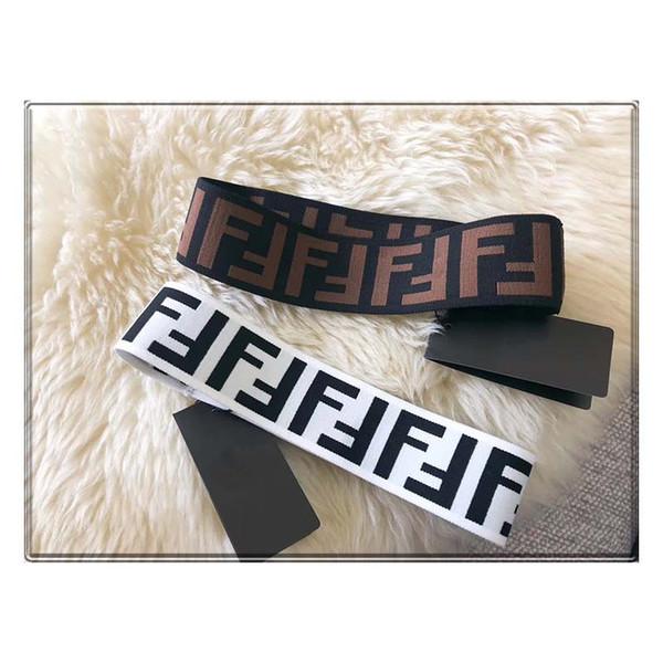 Bande di lusso lettera donne sciarpa capa fascia migliore qualità Classic fasce elastiche dei capelli per uomini e donne