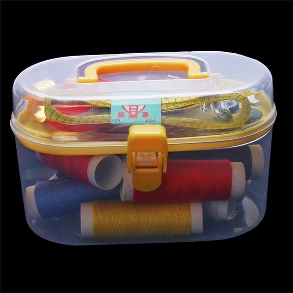 Multi-functional Sewing Kit Home Travel Thread Threader Needle Tape Measure Scissor Storage Box Sewing Toys Cosmetics