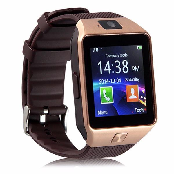 Reloj inteligente original DZ09 Dispositivos portátiles Bluetooth Smartwatch para iPhone Reloj para teléfono Android con reloj de cámara Ranura SIM / TF