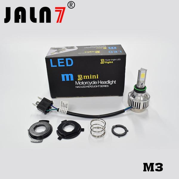 Linterna de la motocicleta H4 LED Bombillas de los faros Viga alta baja LED para luz de la motocicleta 66W 5000LM M3 LED Moto faro DC 12V