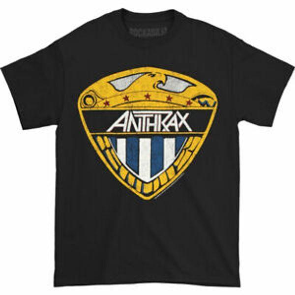 Anthrax Men 039 s Eagle Shield T-Shirt BlaCustom