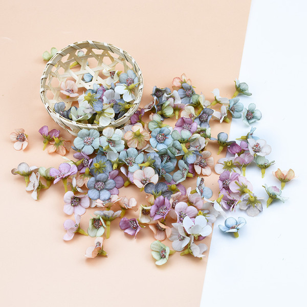 multicolor daisy flower head mini silk artificial flower wall for crown scrap wedding home decor diy garland headdress