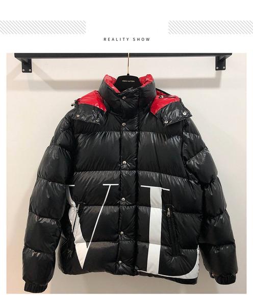 2018 Winter Neue Mens Designer Jacken Hohe Qualität Lässig Luxus Doudoune Männer und Frauen Kurze Abschnitt Dicke Warme Daunenjacke Größe S-XL