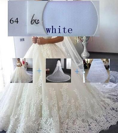 (Weiß) Kleid + Petticoat + Schleier