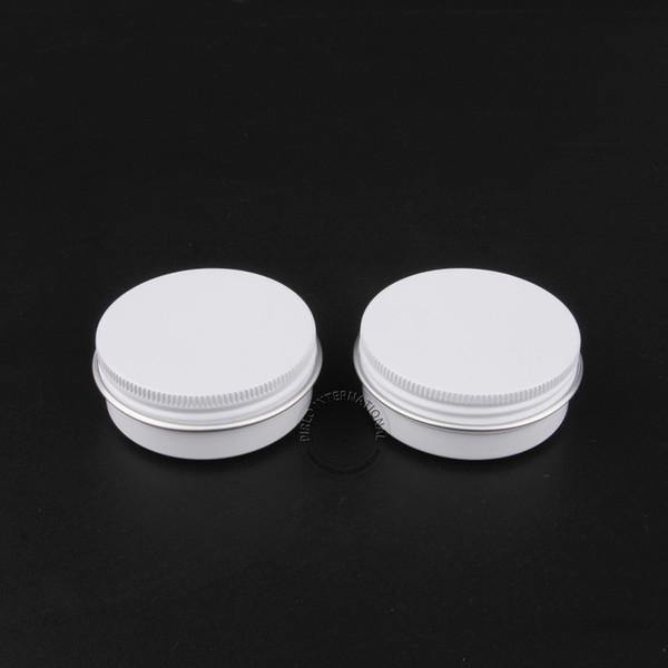 50 unids / lote 30 g de aluminio blanco estaño frasco 30 ml Metal vacío contenedores de cosméticos 1 oz recargables tarros de viaje olla envío gratis