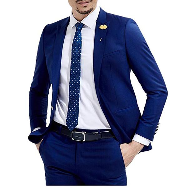 2 Pieces Italian Stylish Wedding Men Suit Men 2019 Slim Fit Tuxedos For Party Groom Mens Suits (Jacket+Pants+Tie)