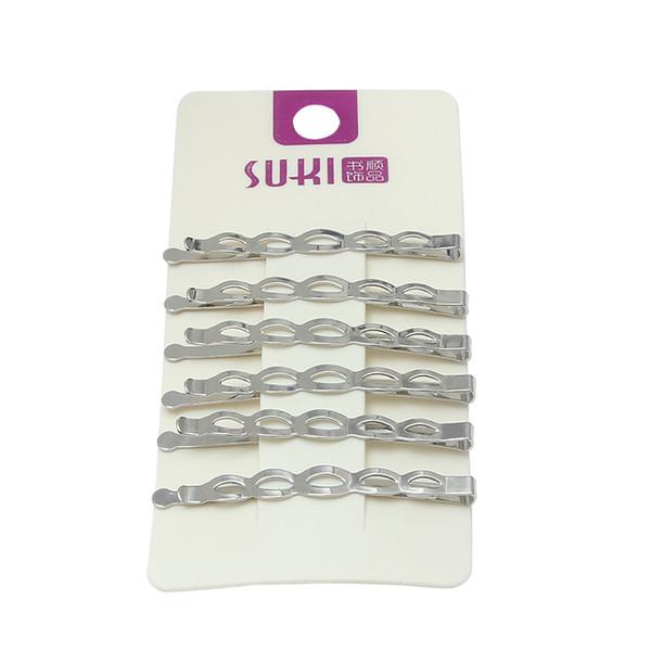 6pcs / lot métal pinces à cheveux pour les femmes cheveux Styling Outil Hairpin creux Pin Clips CÉRÉMONIES pour les filles Accessoires Couvre-chef
