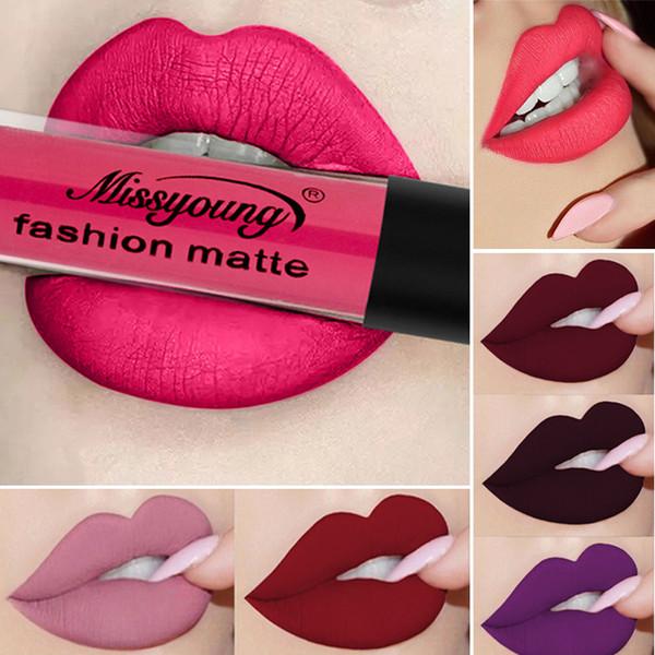 Waterproof Matte Lipstick Long Lasting Sexy Moisturizer liquid Lip stick Brand Cosmetics Velvet Lip Gloss Beauty Makeup gift