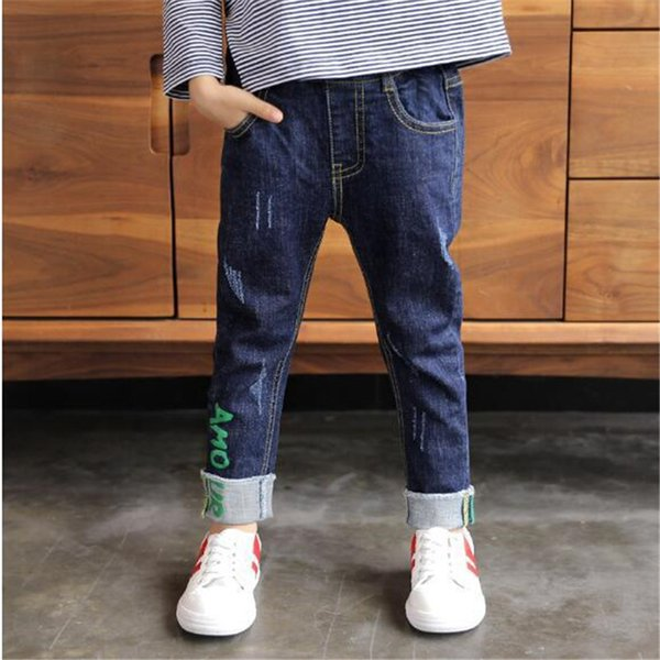 2019 Winter Thick Baby Jeans Warm Casual Pants Boys Jeans Bottom Children Denim Boys Pants Toddler Trousers Kids Clothes 3-11T