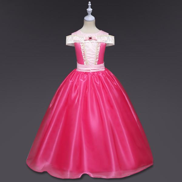 Belle au bois dormant robes de princesse Aurora robes de soirée gaze enfants enfant costume de filles costume Halloween vêtements B12