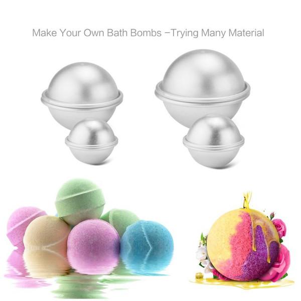 6PcsMetal Aluminum Alloy Bath Bomb Mold 3D Ball Sphere Shape DIY Bathing Tool Accessories X23