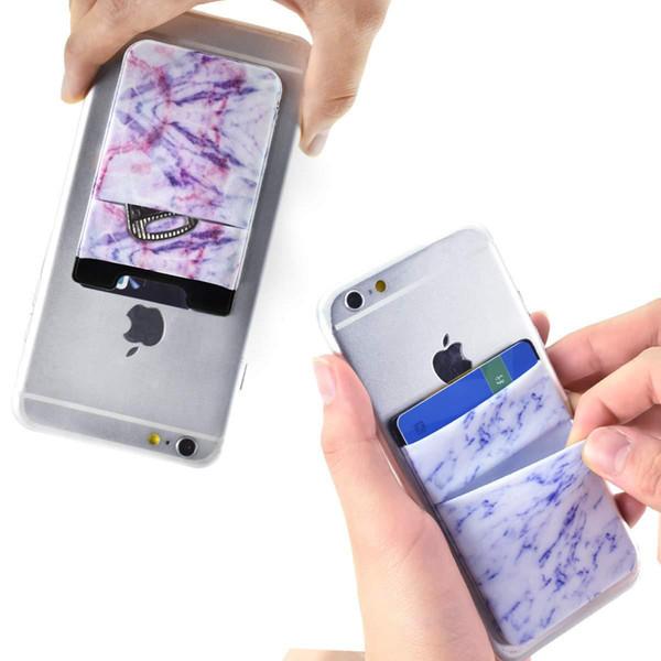 Lycra-Handy-Kasten-Mappen-Kreditausweis-Halter-Tasche 3M klebender Aufkleber-Beutel für iPhone X XS MAX XR 8 7 6 plus huawei Samsung