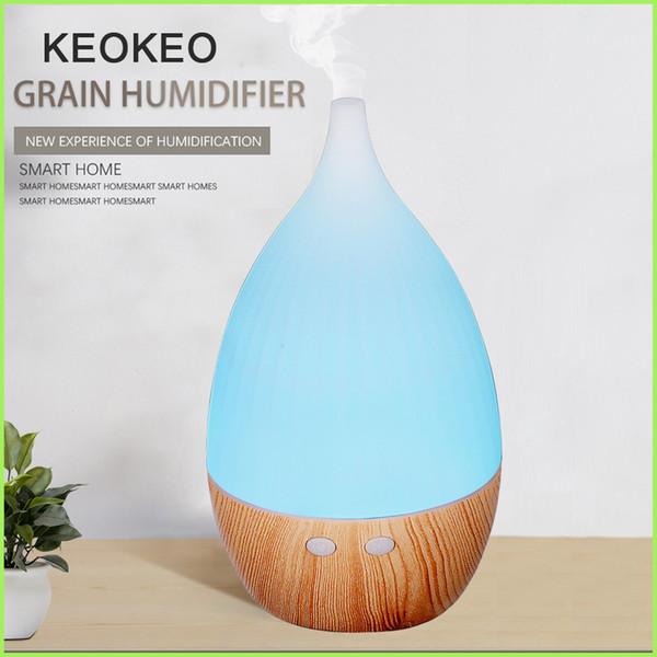 KEOKEO Увлажнитель воздуха Usb Аромат эфирного масла Диффузор 200ML Портативный ультразвуковой увлажнитель воздуха Диффузор очиститель Продажа LED Для дома