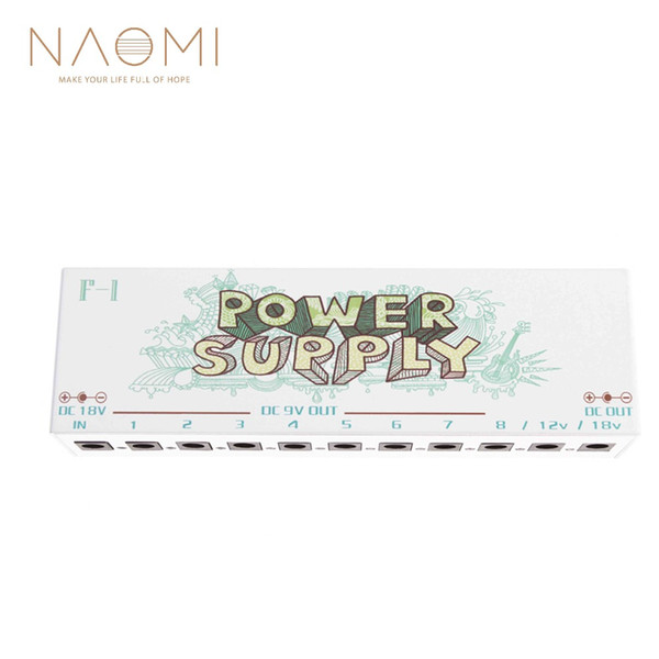 NAOMI F-1 Pedal Power Isolated Power Supply Pedale effetti per chitarra Pedale effetti chitarra Nuovo SPINA EU