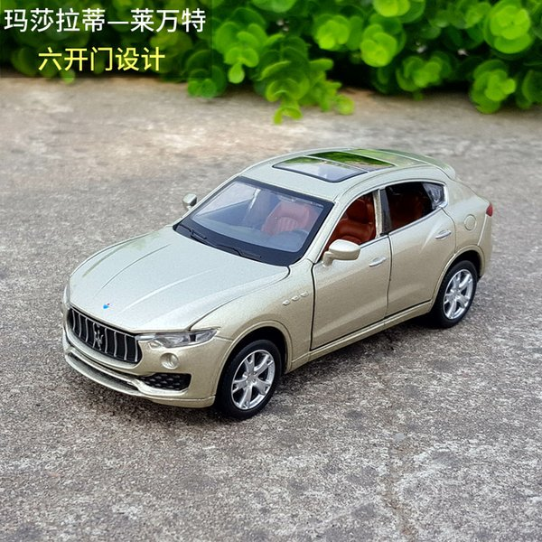 1:32 Scale Diecast Alloy Metal Luxury SUV Car Model For Maserati Levante Collection Model 6 Doors Open Toys Vehicle Car