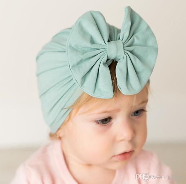 Copricapo da bambino per bambina Cappello da fiocco in cotone Cappello termico multicolore Cappello da bambino per bambini Cappellino con turbante per bambini