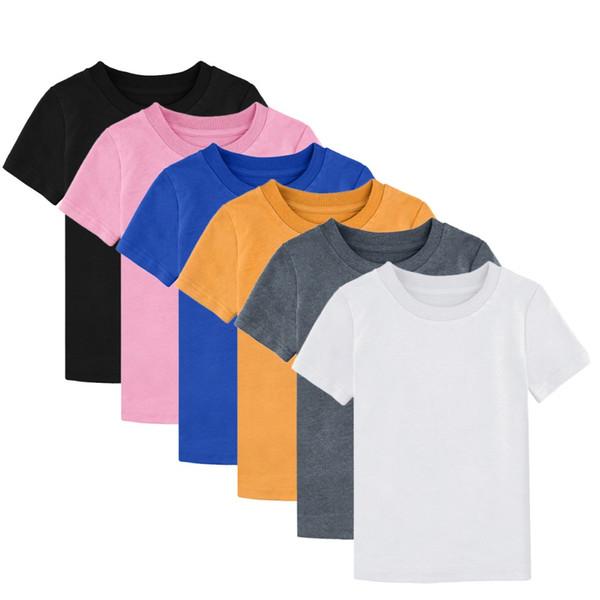 Maglietta di cotone pesante infantile della maglietta dei bambini delle neonate delle ragazze di 8 colori Maglietta bianca di Tee della maglietta dei bambini di Plain Plain Plain White Tshirt