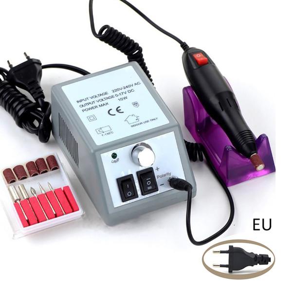 wholesale Nail Art Profession Electric Acrylic Nail Art File Drill Set Manicure Machine Sand Drill Kit 40# dropship