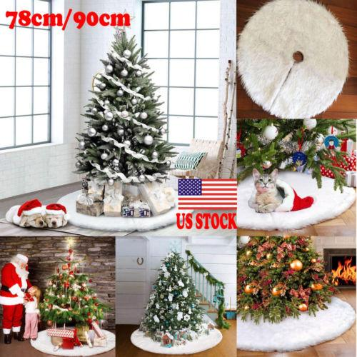 White Christmas Home Decor.78cm 90cm White Christmas Tree Skirt Stand Apron Ornaments Party Home Decor Hot New Home Decor White Plush Christmas Tree Skirts Christmas Decorations