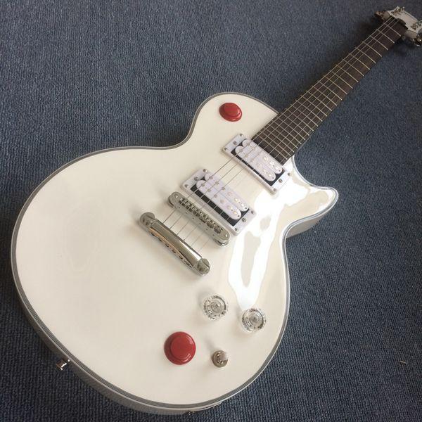 Neue Custom Shop Kill Switch Buckethead Style Gitarre 24 Bünde E-Gitarre, Alpine White Guitarra, Weiße Gitarre, Tone-Pro bridge190109
