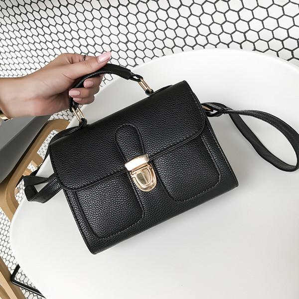 Overseas2019 Woman Pu Envelope Portable Finalisieren Sie das Design Single Shoulder Double-Pocket-Paket mit geneigter Spannweite