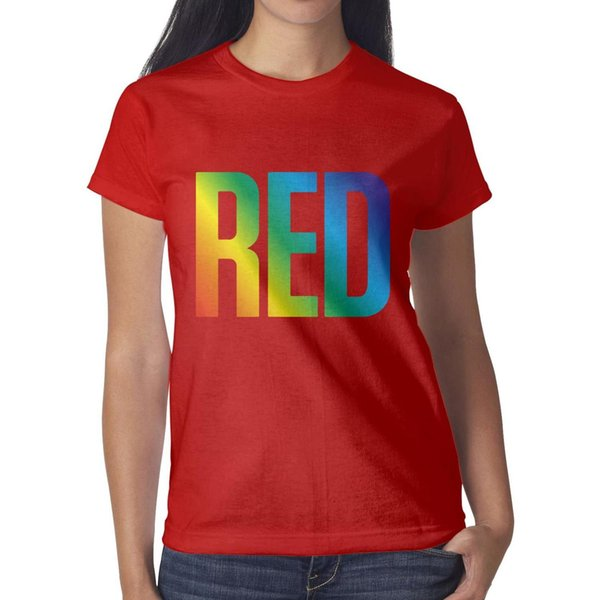 Taylor Swift pop music red Gay pride rainbow Women Top Retro Outdoor Bulk T Shirts Printing Crew Neck Shirts Womans T Shirt Dress