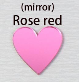 ارتفع مرآة ل 14cm الأحمر