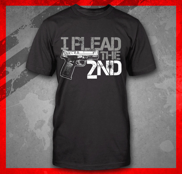 HAND GUN I PLEAD THE SECOND 2ND AMENDMENT PRO 9MM PISTOL CONCEAL CARRY T-SHIRTFunny free shipping Casual tshirt